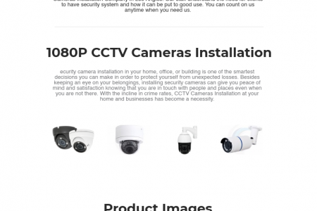 1080p Security Cameras Installation Los Angeles Infographic