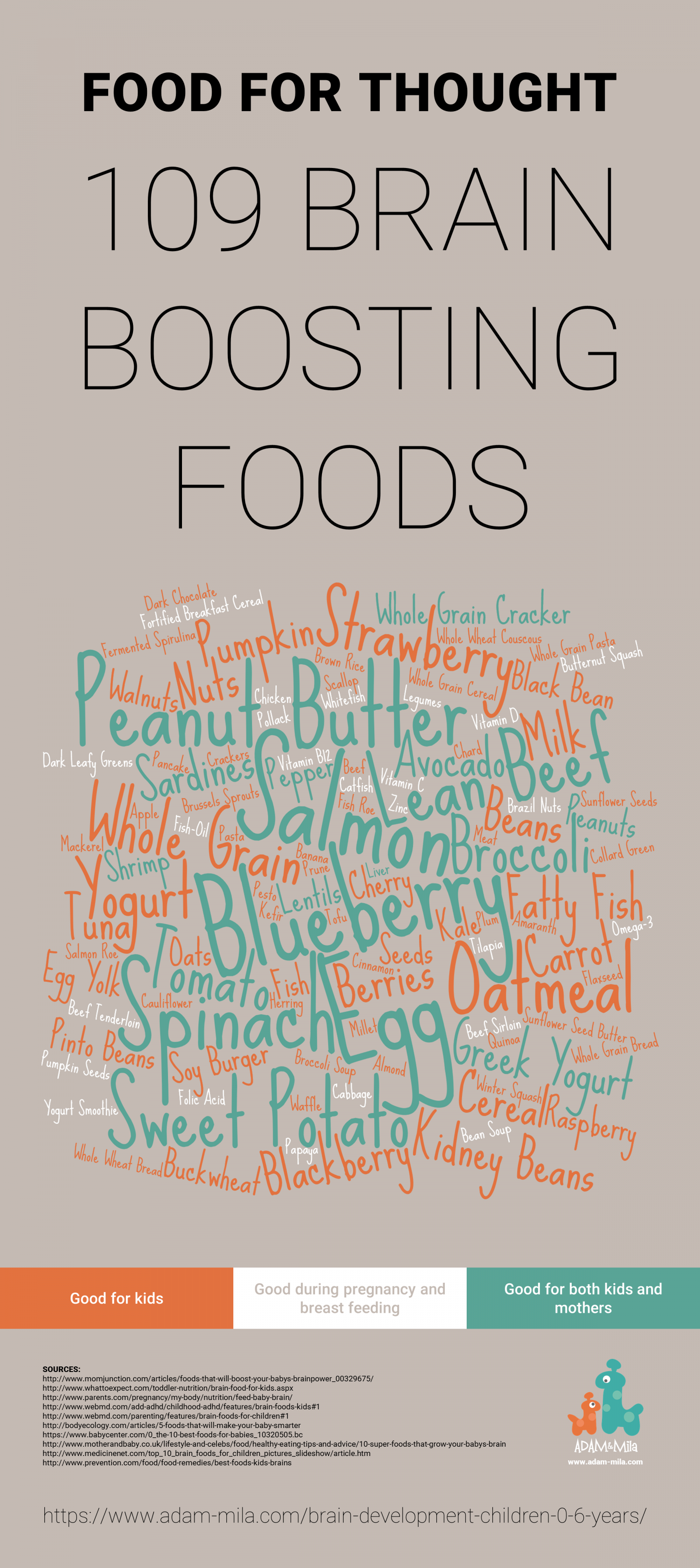 109 Brain Boosting Foods Infographic
