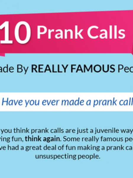 10 Prank Calls Made By Really Famous People Infographic