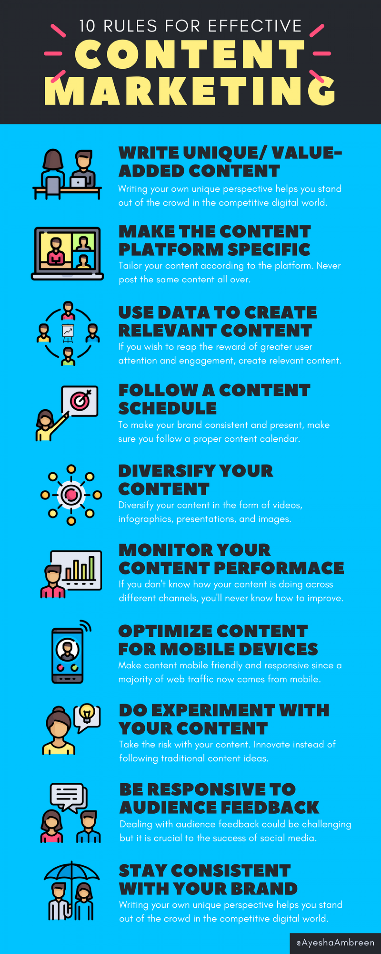 10 Rules For Effective Content Marketing Infographic