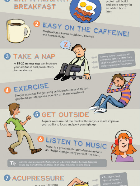 10 Tips to Keep You Awake and Safe at Work Infographic