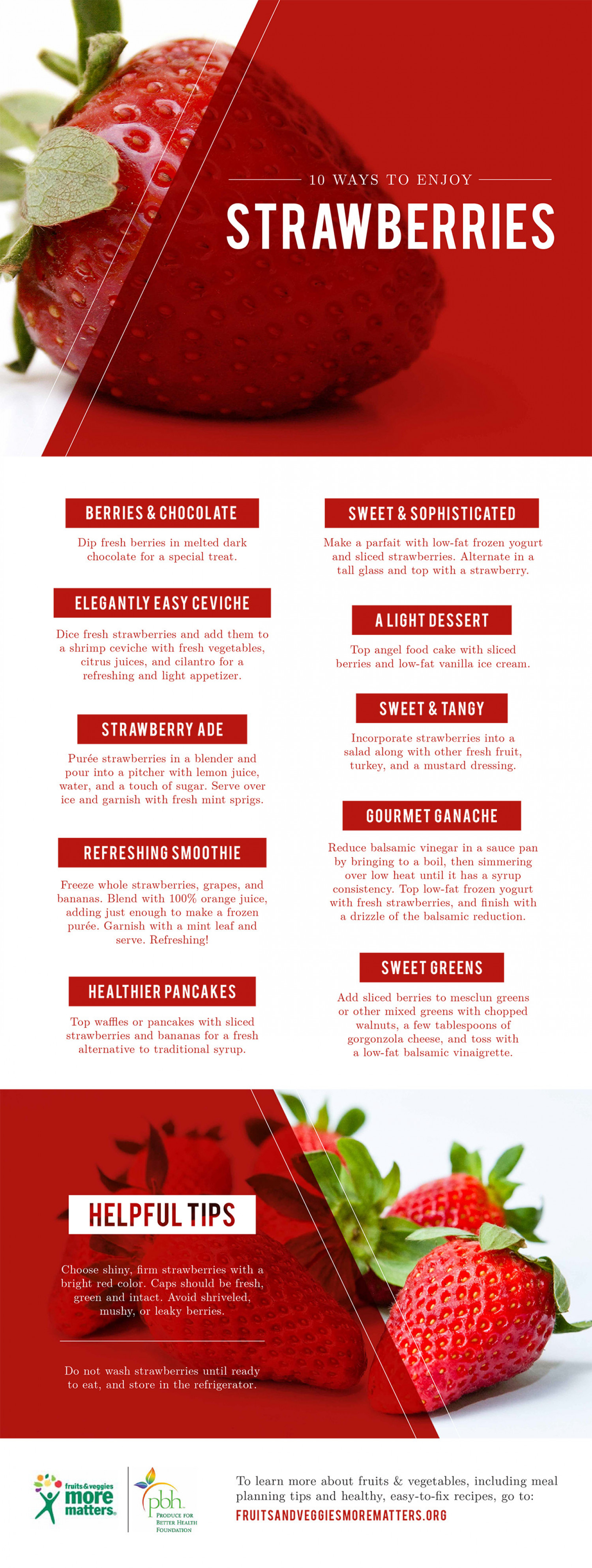 10 Ways to Enjoy Strawberries Infographic