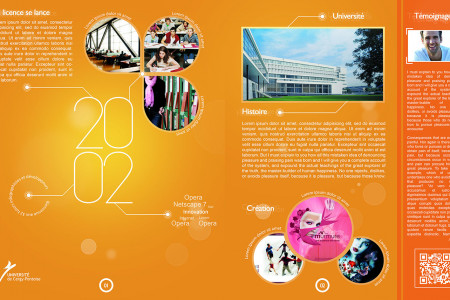 10th anniversary of the University of Cergy Infographic
