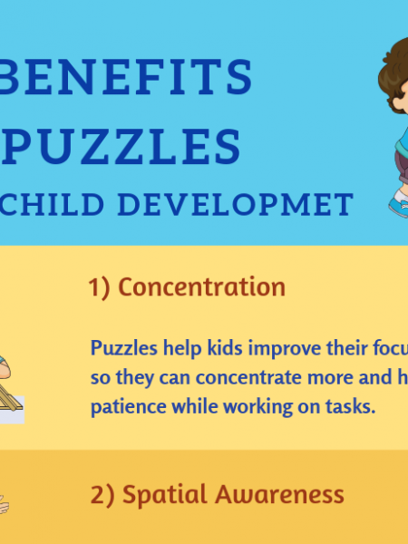 11 Benefits of Puzzles for Child Development Infographic