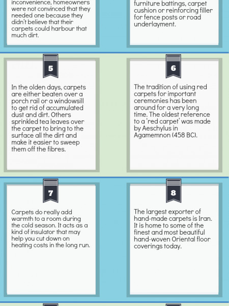 11 Incredible Facts You Didn't Know About Carpets Infographic