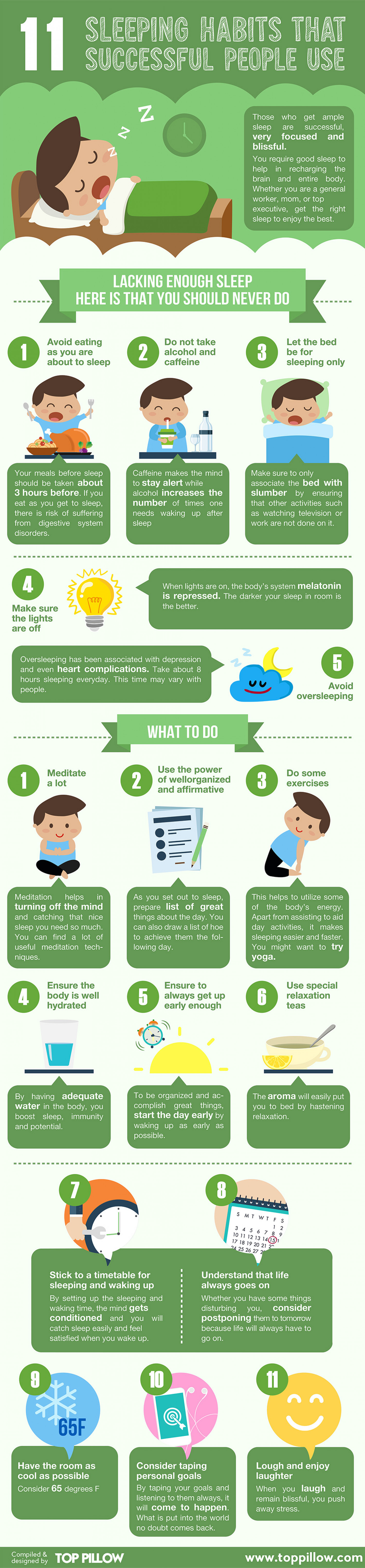 11 Sleeping Habits That Successful People Use Infographic