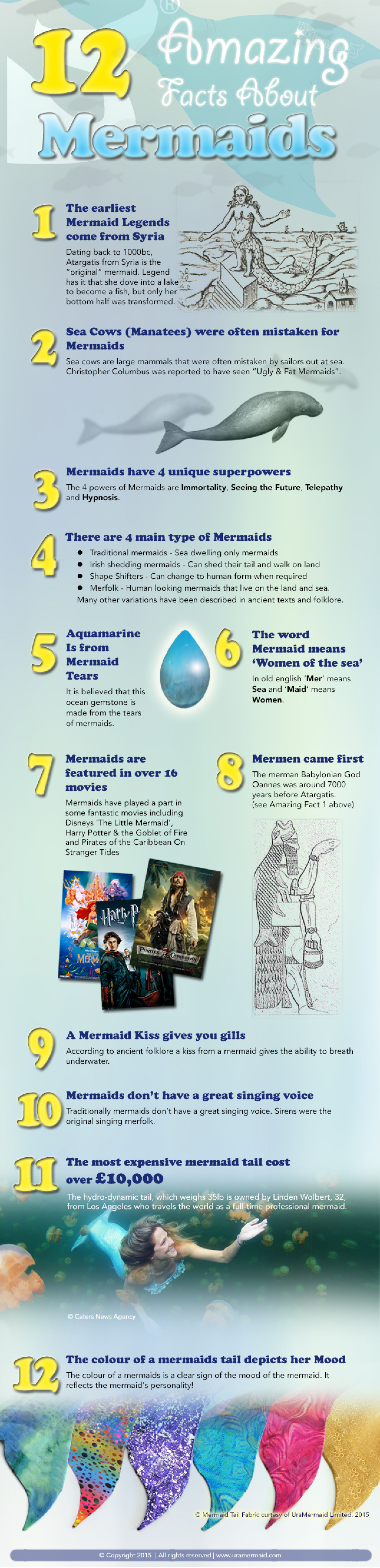 12 Amazing Facts About Mermaids Infographic