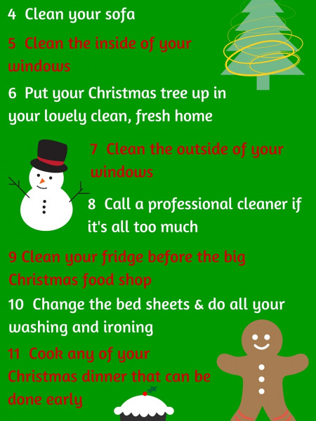 12 Days of Christmas Cleaning Infographic