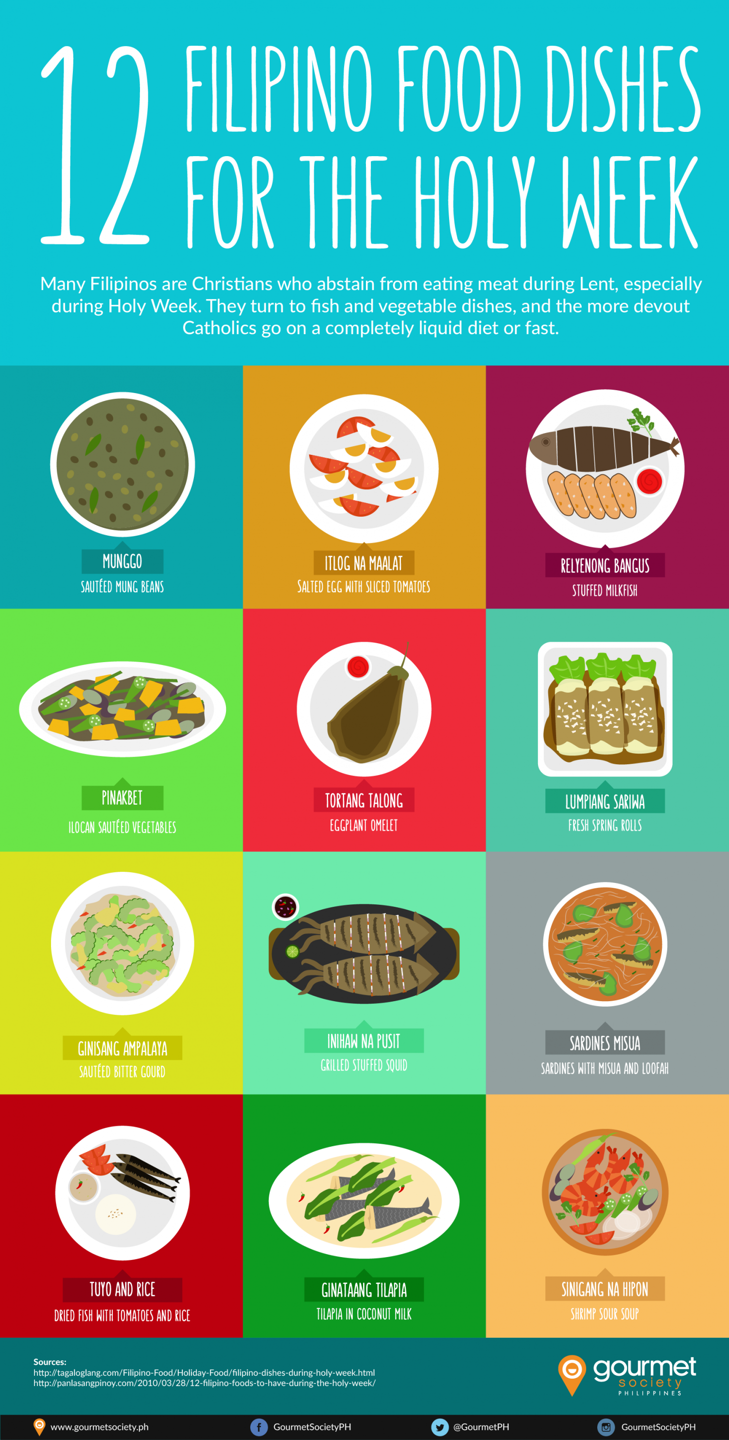 12 Filipino Dishes for Holy Week Infographic