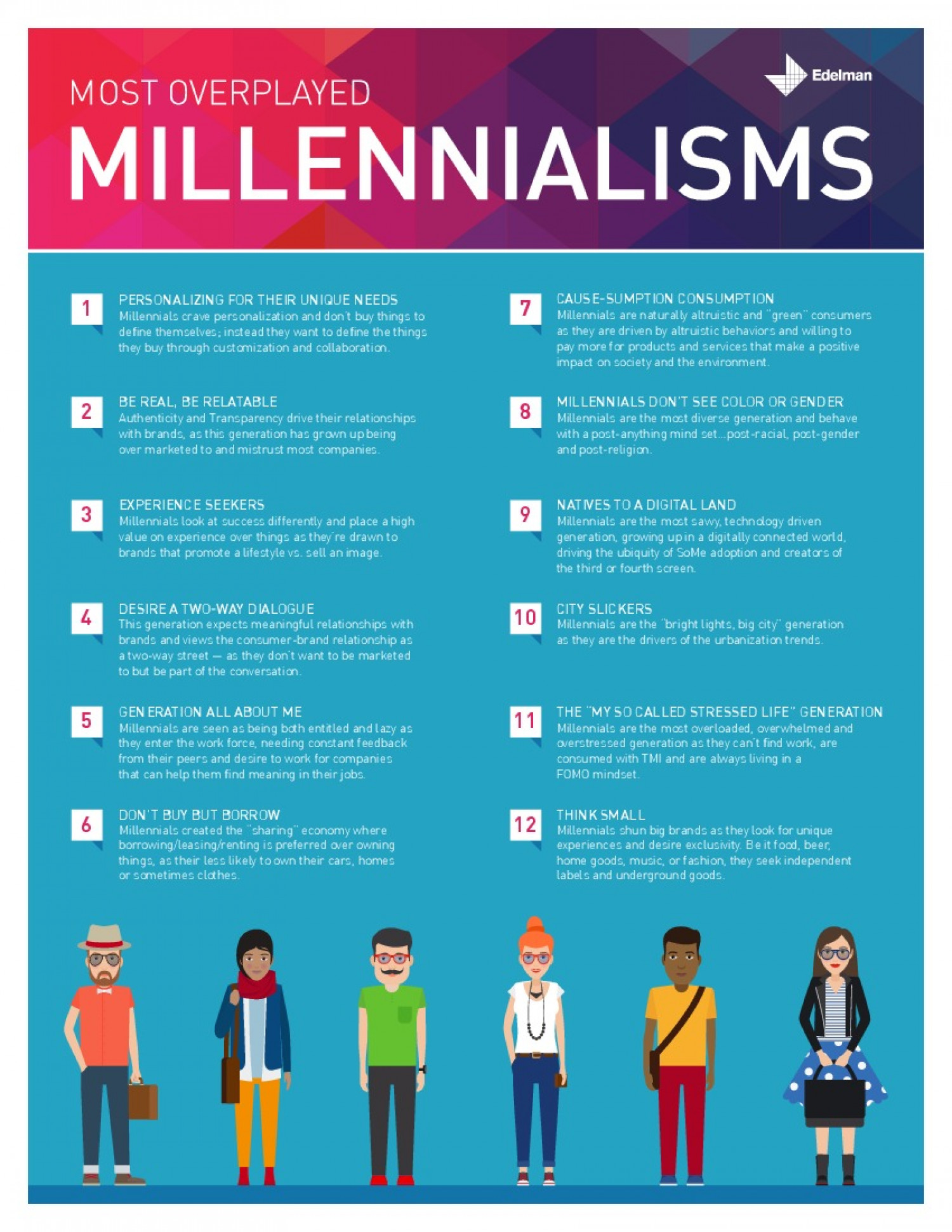 12 Millennial Truths People Are Sick of Hearing Infographic