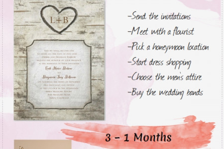 12 Month Wedding Checklist for the Bride & Groom Infographic