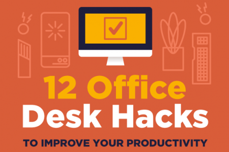 12 Office Desk Hacks to Improve Your Productivity Infographic