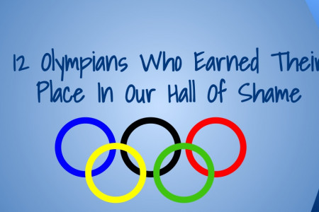 12 Olympians Who Earned Their Place In Our Hall Of Shame Infographic