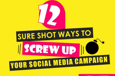 12 Sure Shot Ways To Screw Up Your Social Media Campaign Infographic