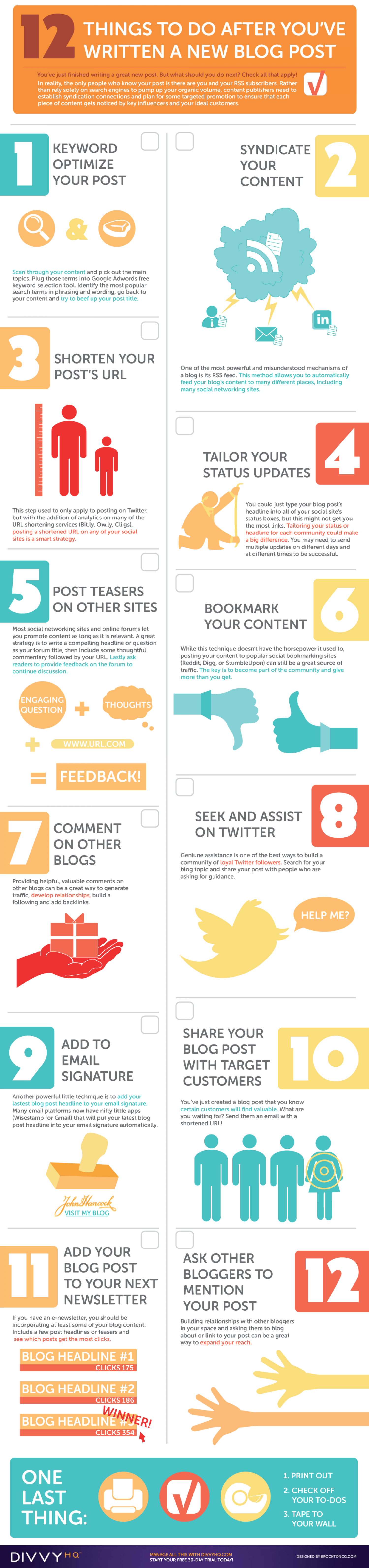 12 Things To Be Followed After Blog Post Infographic