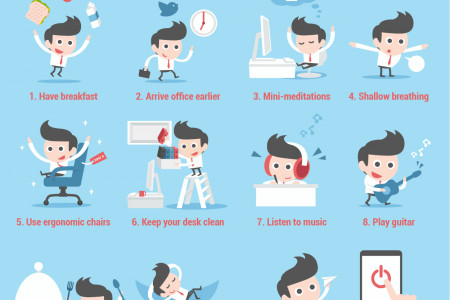 12 ways to relax and boost your creativity at work Infographic