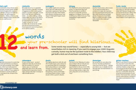 12 words your pre-schooler will find hilarious and learn from Infographic