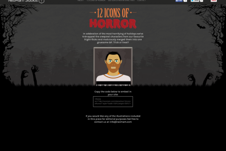 12 Icons of Horror [Halloween GIF] Infographic