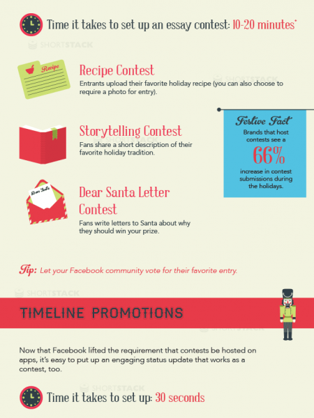 12 Last Minute Facebook Holiday Contest Ideas Infographic
