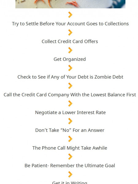 13 Awesome Tips For Negotiating Credit Card Debt Infographic