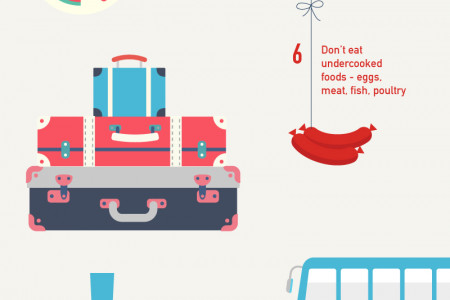 13-Step Guide to Staying Healthy While Traveling Abroad Infographic