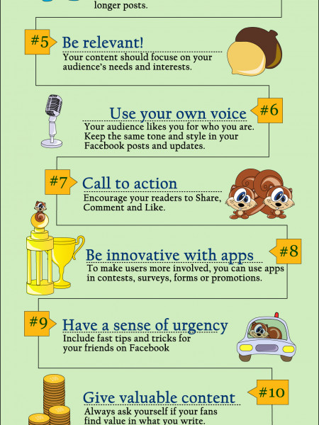 How to get shared on Facebook Infographic
