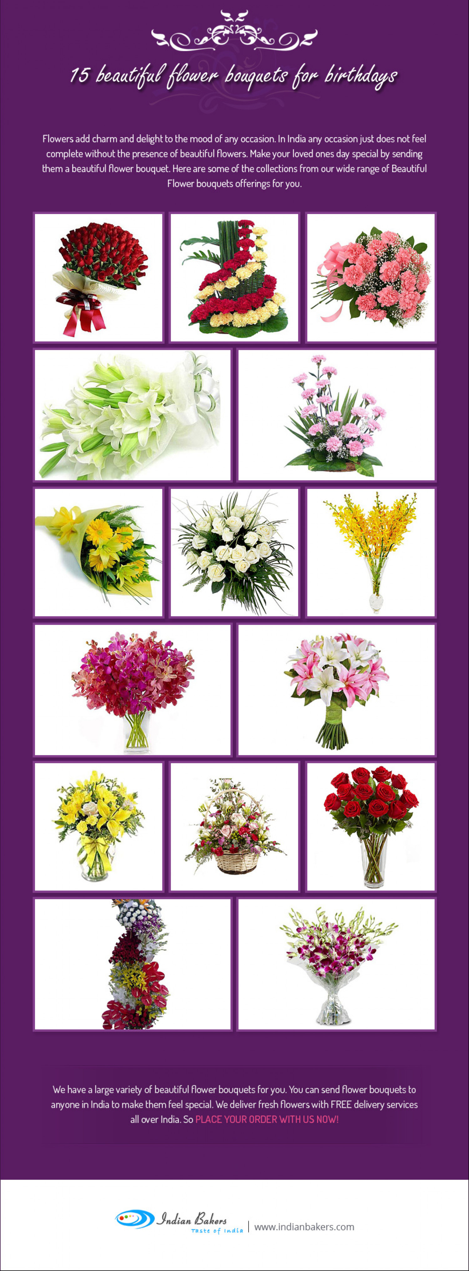 15 beautiful flower bouquets for birthday visual 15 beautiful flower bouquets for birthday infographic izmirmasajfo