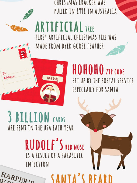 15 Bizarre Facts About Christmas Infographic