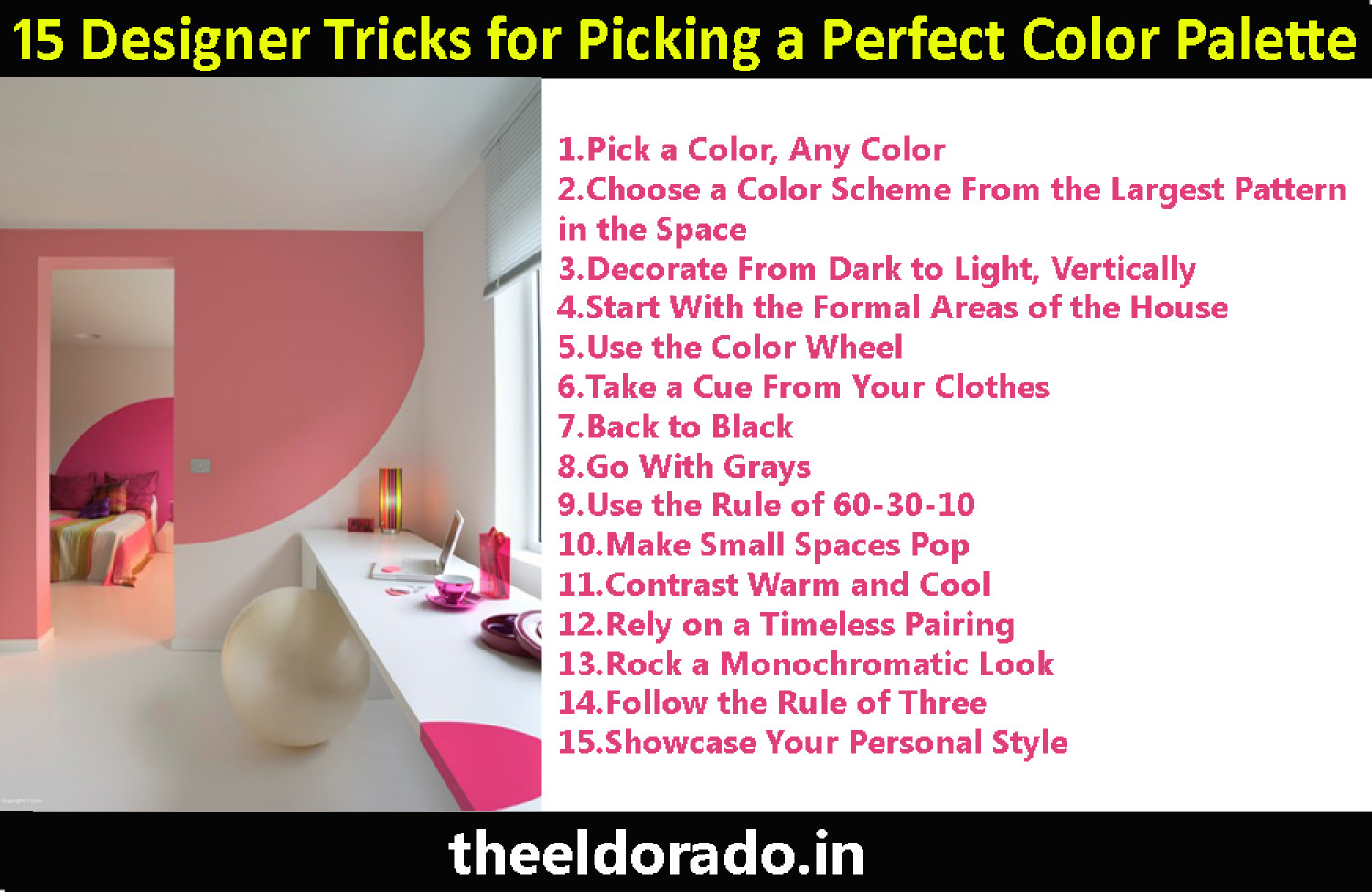 15 Designer Tricks for Picking a Perfect Color Palette Infographic