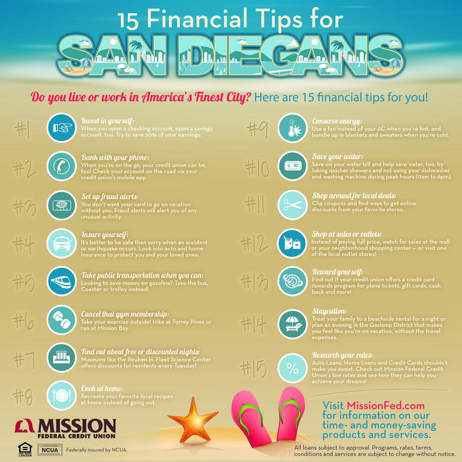 15 Financial Tips for San Diegans Infographic