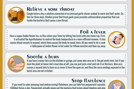 15 Home Remedies Infographic
