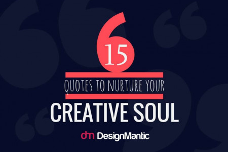 15 Quotes To Nurture Your Creative Soul! Infographic