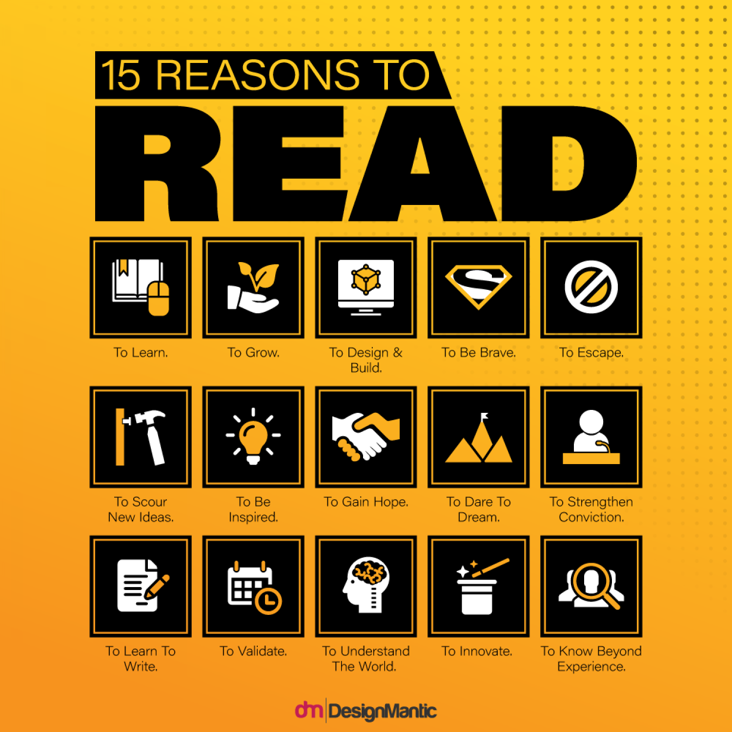 15 Reasons To READ Infographic
