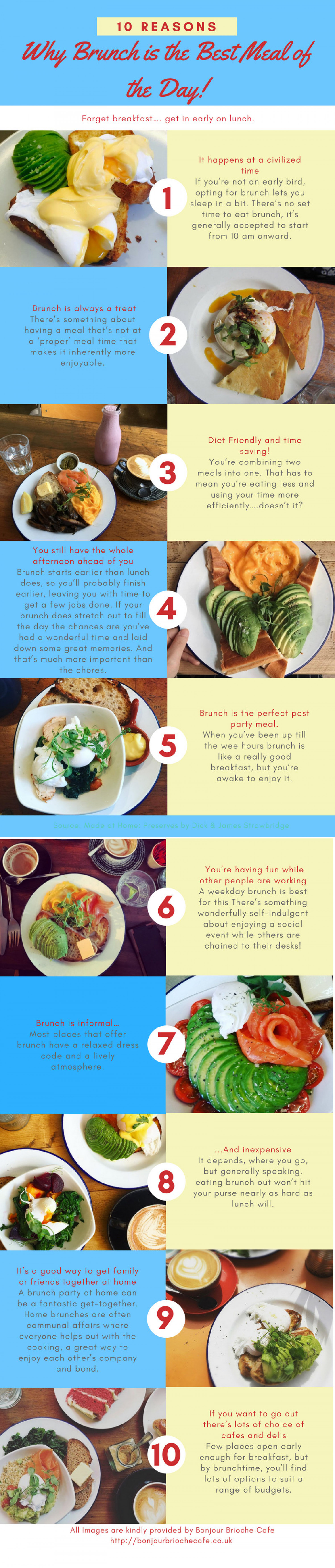 10 Reasons Why Brunch Is The Best Meal Of The Day! Infographic