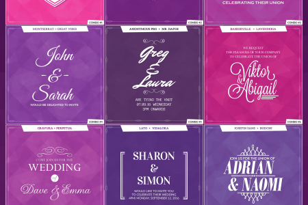 15 Splendid Font Combos for Wedding Invites Infographic