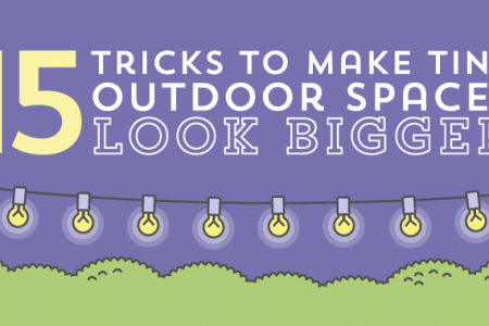 15 Tricks to Make Tiny Outdoor Spaces Look Bigger Infographic