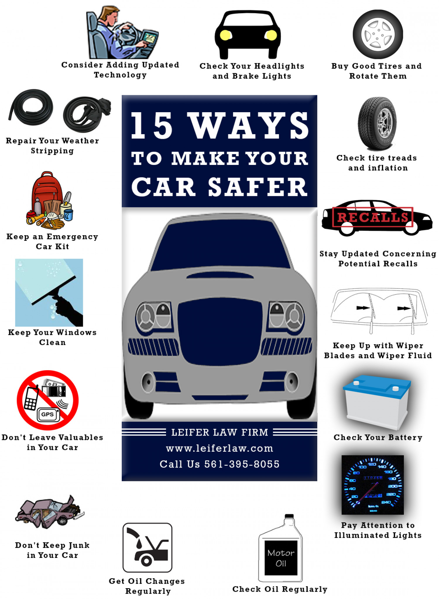 15 Ways to Make Your Car Safer | Visual.ly