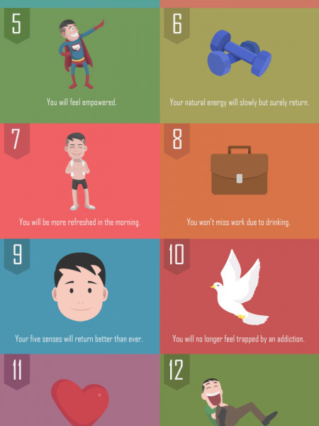 15 Satisfying Reasons to Quit Drinking Alcohol Infographic