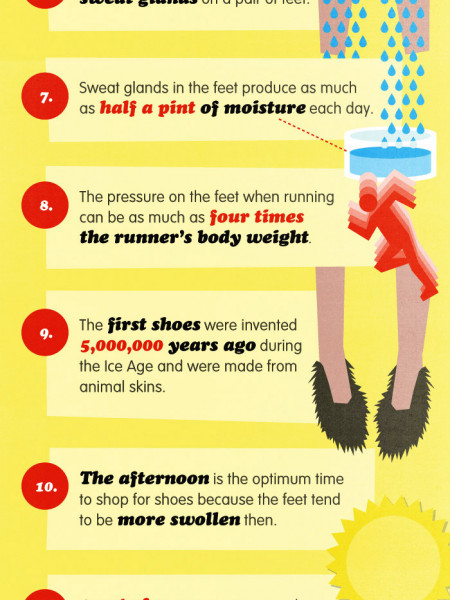 17 INTERESTING FACTS ABOUT FEET Infographic