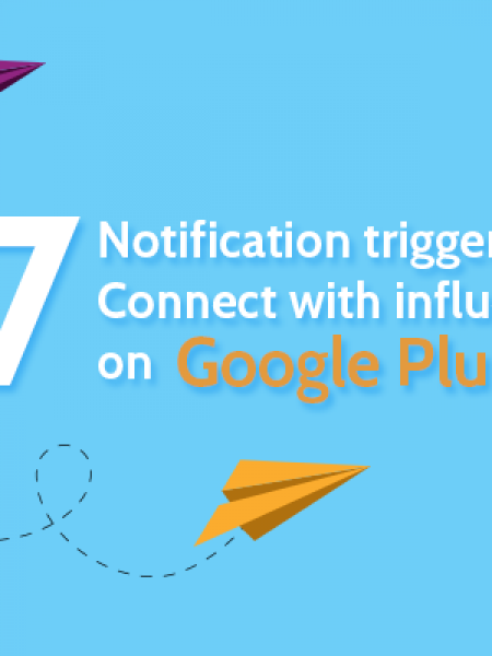 17 notification triggers to connect influencers on Google plus Infographic