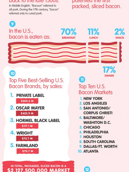17 Tasty Tips on Bacon  Infographic