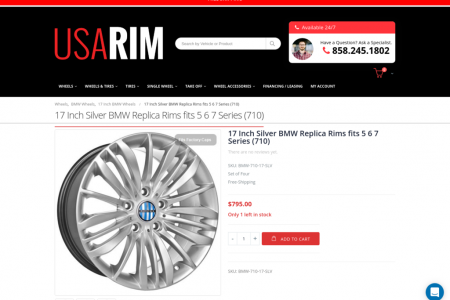 17 Inch Silver BMW Replica Rims fits 5 6 7 Series (710) Infographic