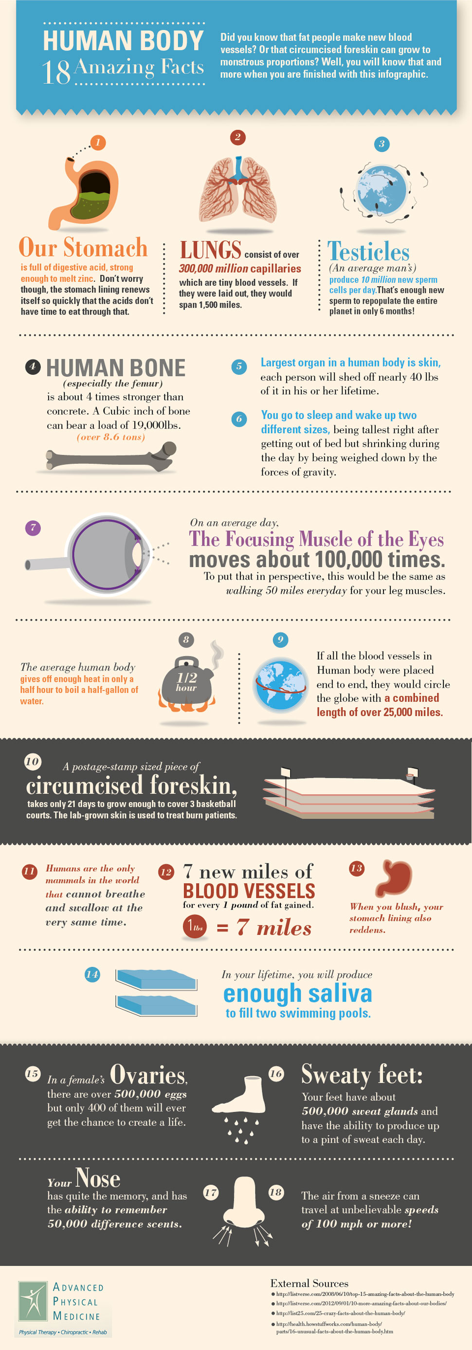 18 Amazing Facts About The Human Body | Visual.ly