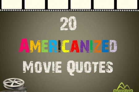 20 Americanized Movie Quotes Infographic