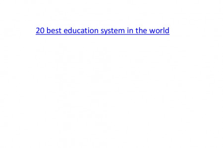 20 best education system in the world - Edsys Infographic