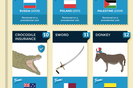 20 Bizzare Gifts Received by Barack Obama Infographic