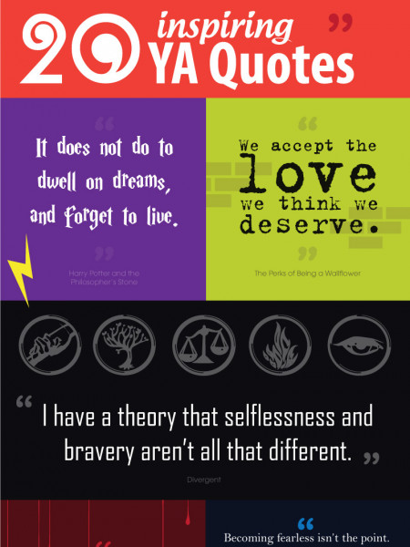 20 Inspiring Young Adult's Book Quotes Infographic