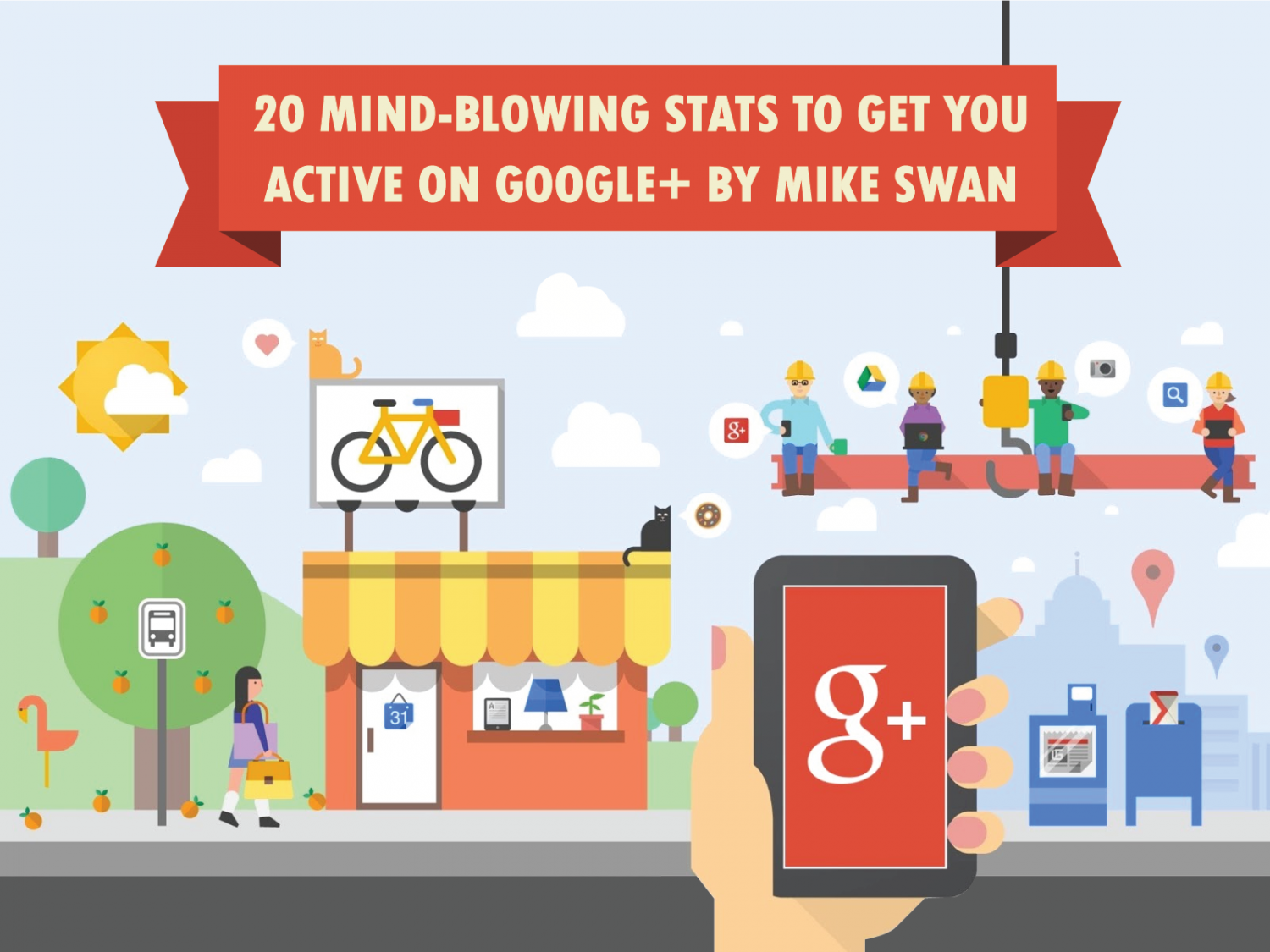 20 Mind-Blowing Stats To Get You Active On Google+ Infographic