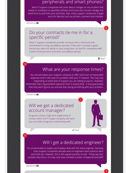 20 Questions a Business Should Ask When Selecting an IT Support Company Infographic