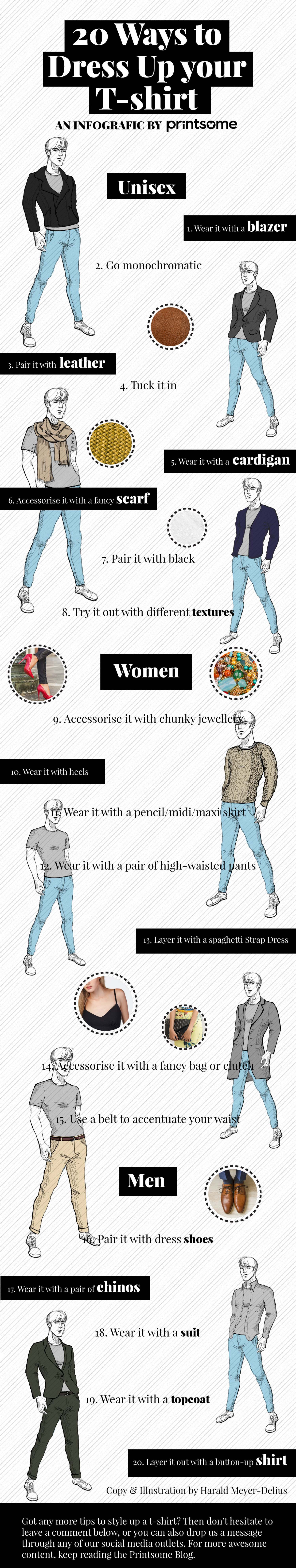 20 Simple Ways to Dress up Your T-shirt: The Infographic Infographic